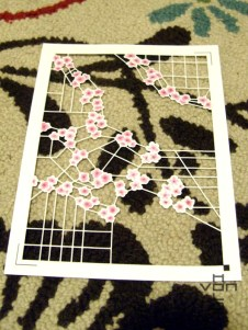 Final cut-out petals in lattice